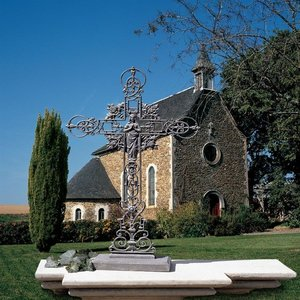 Our Lady of the Roses Iron Cross Statues