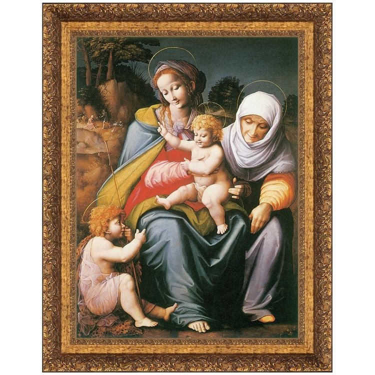 View larger image of The Virgin and Child with St. Elizabeth and St. John the Baptist: Medium