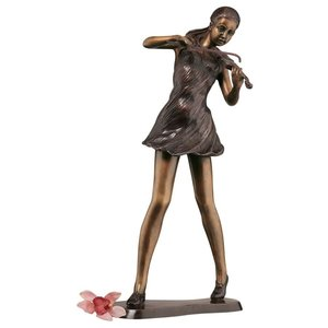 The Young Violinist Bronze Sculpture