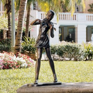 The Young Violinist Sculpture