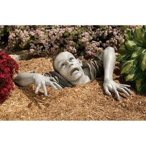 The Zombie of Montclaire Moors Statues