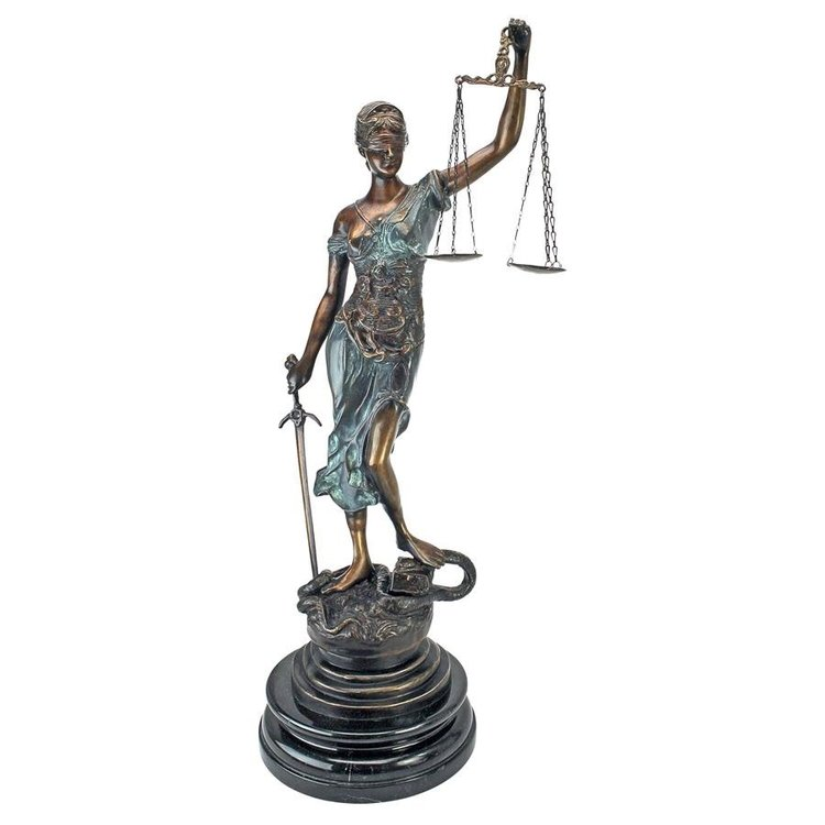 View larger image of Themis, Blind Justice Cast Bronze Statues