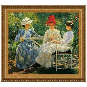 Three Sisters A Study in June Sunlight, 189 Canvas Replica Painting: Grande