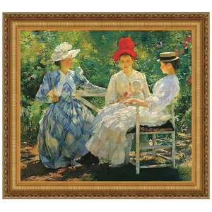 Three Sisters A Study in June Sunlight, 1890: Canvas Replica Painting
