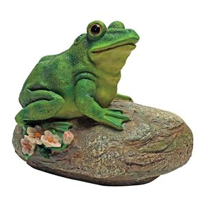 Thurston, the Frog, Garden Rock Sitting Toad Statue