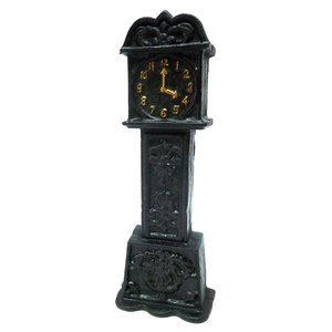 Time is Money Grandfather Clock Cast Iron Still Coin Bank
