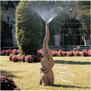 Tiny the Elephant Lawn Sculpture and Garden Sprinkler