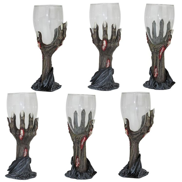 View larger image of Toast of the Zombie Sculptural Goblet: Set of Six