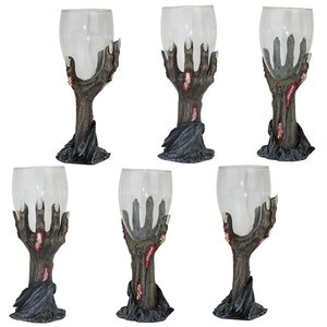 Toast of the Zombie Sculptural Goblet: Set of Six