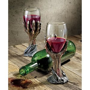 Toast of the Zombie Sculptural Goblet: Set of Two
