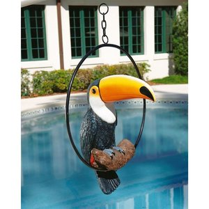 Touco the Tropical Toucan Sculpture on Ring Perch