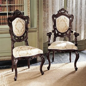Toulon French Rococo Dining Chair Set