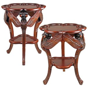 Traditional Dragonfly Occasional Table: Set of Two