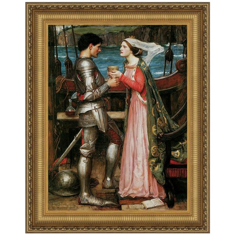 View larger image of Tristan and Isolde Sharing the Potion, 1916: Canvas Replica Painting: Medium