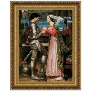Tristan and Isolde Sharing the Potion 1916: Canvas Replica Painting: Small