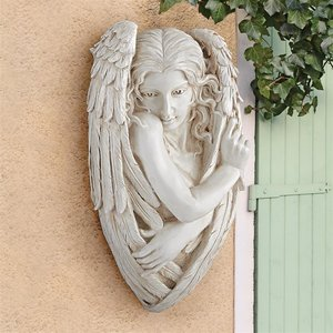 Tristan, the Timid Angel Wall Sculpture
