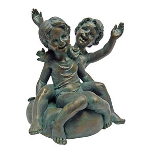 Tubing Twins: Boy and Girl Statue