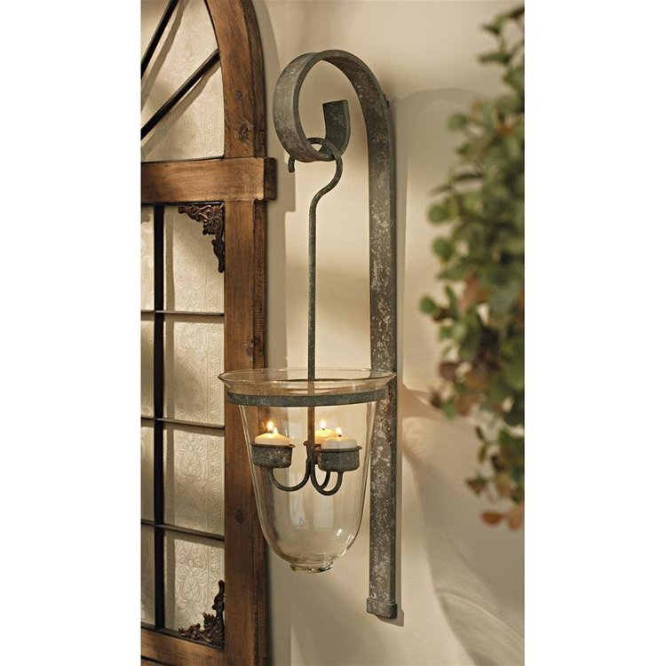 View larger image of Tuscan Hanging Candeliere Glass Pendant Sconce