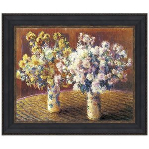 Two Vases of Chrysanthemums, 1888: Canvas Replica Painting: Large