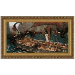 Ulysses and the Sirens, 1891: Canvas Replica Painting: Medium