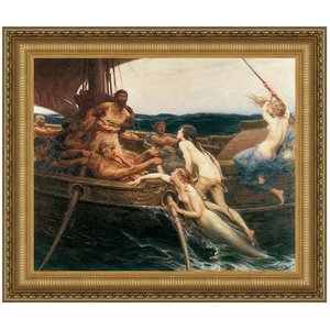 Ulysses and the Sirens, 1909: Canvas Replica Painting: Medium