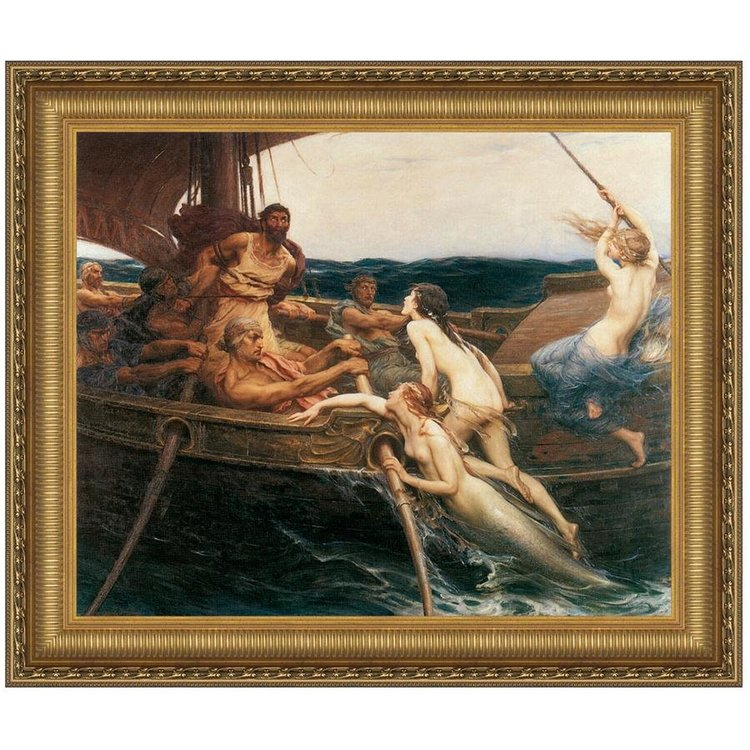 View larger image of Ulysses and the Sirens, 1909: Canvas Replica Painting