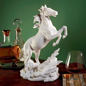 Untamed Beauty Bonded Marble Horse Statue