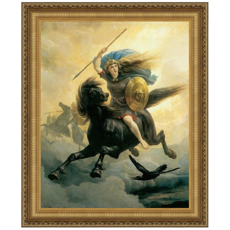 View larger image of Valkyrie, 1865: Canvas Replica Painting: Medium