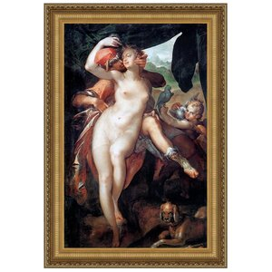 Venus and Adonis, 1597: Canvas Replica Painting: Large