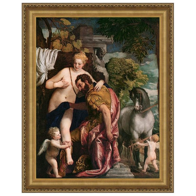 View larger image of Venus and Mars United by Love, 157: Canvas Replica Painting: Medium
