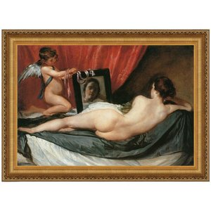 Venus at her Mirror (The Rokeby Venus) 1651: Canvas Replica Painting: Small