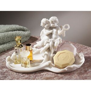 Versailles Angels Font Bonded Marble Resin Catch-All Dish