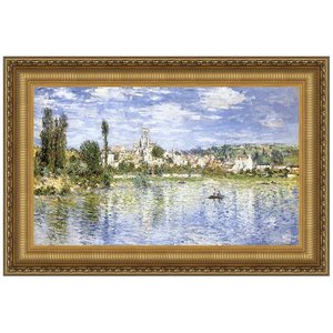 Vetheuil in Summer, 1880: Canvas Replica Painting: Large