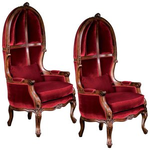 Victorian Balloon Chair: Set of Two