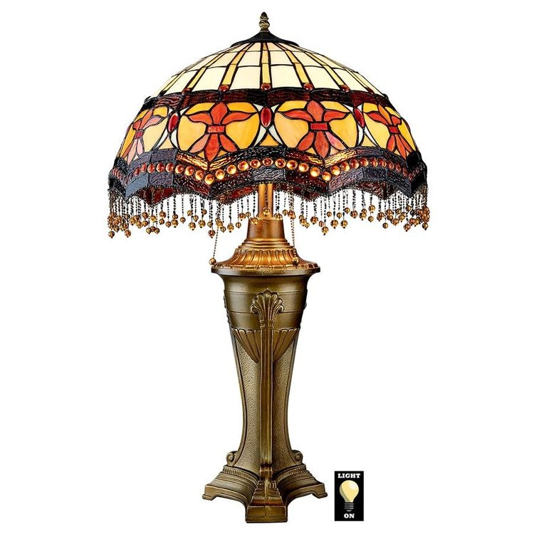 View larger image of Victorian Parlor Tiffany-Style Stained Glass Lamps