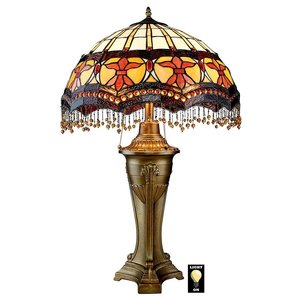 Victorian Parlor Tiffany-Style Stained Glass Lamps