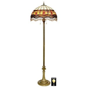 Victorian Parlor Tiffany-Style Stained Glass Floor Lamp