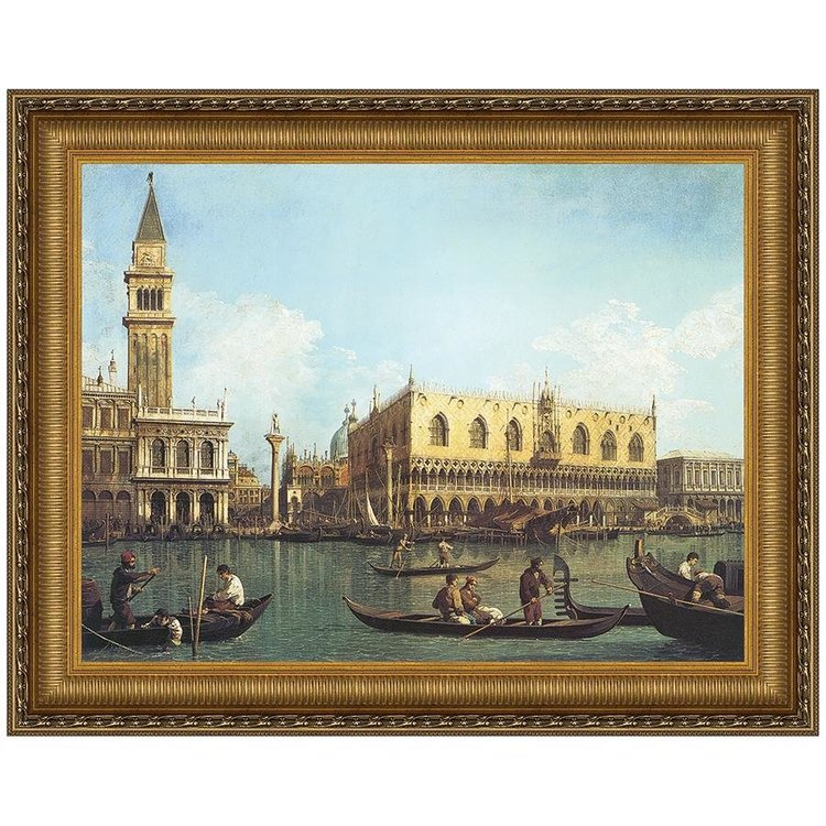View larger image of View of the Bacino di San Marco, St. Mark's Basin, 1730-35: Canvas Replica Painting