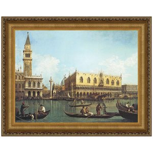 View of the Bacino di San Marco St. Mark's Basin 173-35: Canvas Replica Painting: Small