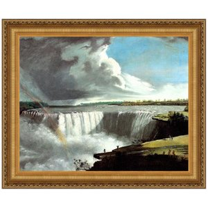 View of the Western Branch of the Falls of Niagara, 1802 Canvas Replica Painting: Medium