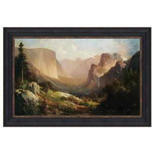 View of Yosemite Valley, 1865: Canvas Replica Painting: Large