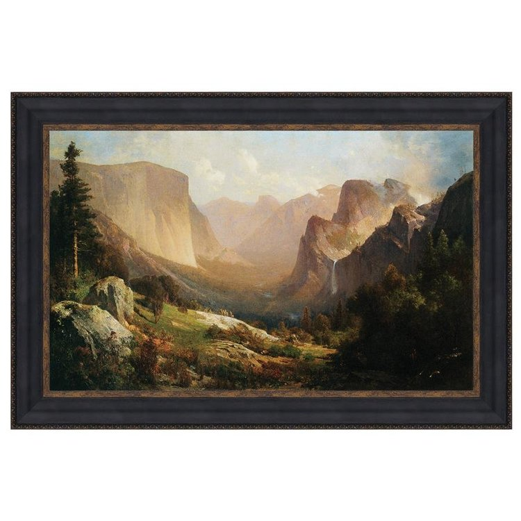 View larger image of View of Yosemite Valley, 1865: Canvas Replica Painting