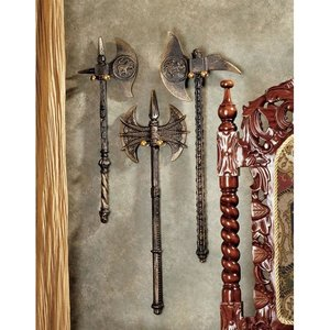 Violet-le-Duc Medieval Knight Cast Iron Display Battle Pick Axe Trio