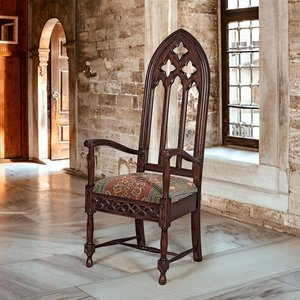Viollet-le-Duc Gothic Cathedral Armchair
