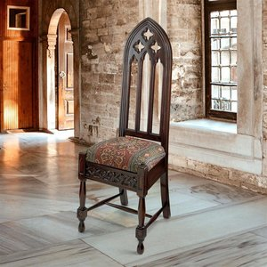 Viollet-le-Duc Gothic Cathedral Side Chair
