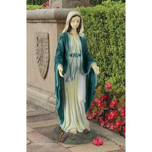 Virgin Mary Blessed Mother Garden Statue