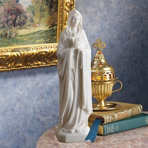 Virgin Mary Bonded Marble Resin Statue: Large