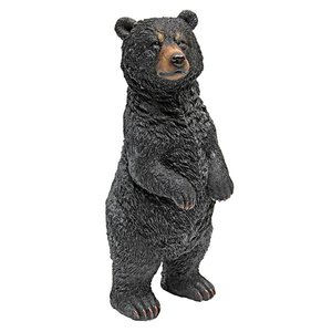 Walking and Standing Black Bear Statues: Standing
