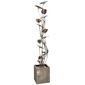 Wandering Leaf Cascading Metal Tower Fountain