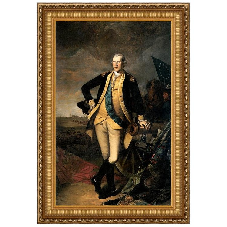 View larger image of George Washington at the Battle of Princeton, 1781: Canvas Replica Painting